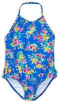 Ralph Lauren Girls' Floral One Piece Swimsuit - Little Kid