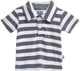Kickee Pants Print Polo (Baby) - Contrast Stripe-Preemie