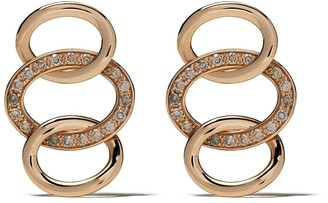 Pomellato 18kt rose gold Brera diamond earrings