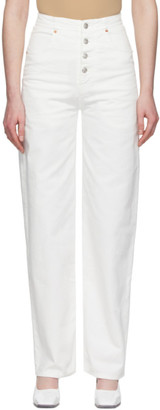 MM6 MAISON MARGIELA White 4-Button Jeans