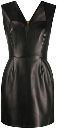 Versace Fitted Lambskin Mini Dress
