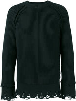 Haider Ackermann ribbed jumper - men - Cotton/Cashmere - XS