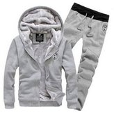 maimai88 Men's Athletic Soft Hoodie Sweatpants Set (L, )