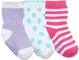 Robeez Pink & Aqua Stripe Three-Pair Socks Set