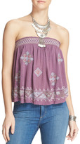 Free People You Got It Bad Strapless Shirt
