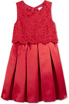 Sweet Heart Rose Lace Popover Special Occasion Dress, Little Girls (2-6X)