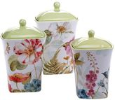 Certified International Rainbow Seeds 3-pc. Ceramic Canister Set