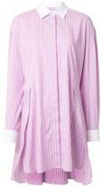 MSGM striped shirt dress