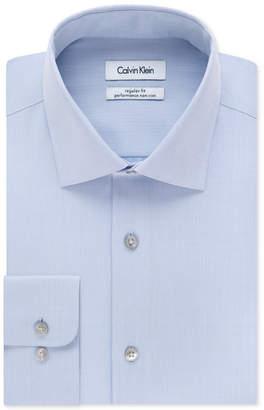 Calvin Klein Men Big & Tall X Extra-Slim Fit Performance Non-Iron Dress Shirt