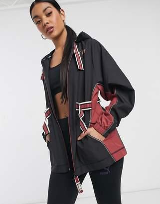 Puma First Mile belted jacket in black