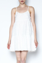 BB Dakota White Ruffle Dress