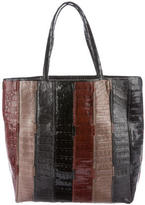 Nancy Gonzalez Striped Crocodile Tote