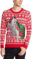 Blizzard Bay Men's Sparkle Unicorn Ugly Christmas Sweater