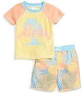 Infant Boy's Sol Swim Pineapple Tropix Two-Piece Rashguard Swimsuit
