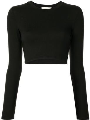 Alexis Long-Sleeve Crop Top