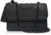 Tory Burch Fleming Black Matte Small Convertible Shoulder Bag