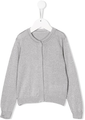 Lapin House Long-Sleeve Fitted Cardigan