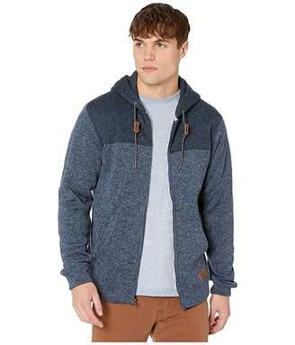 Quiksilver Keller Block Zip (Blue Nights Heather) Men's Clothing