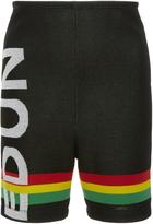 Edun Ghana Stripe Logo Shorts