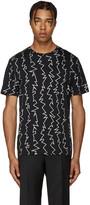 Christopher Kane Black Zig Zag T-Shirt