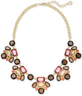 Charter Club Gold-Tone Multi-Stone Statement Necklace, Created for Macy's