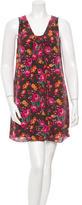 Anna Sui Printed Silk Mini Dress