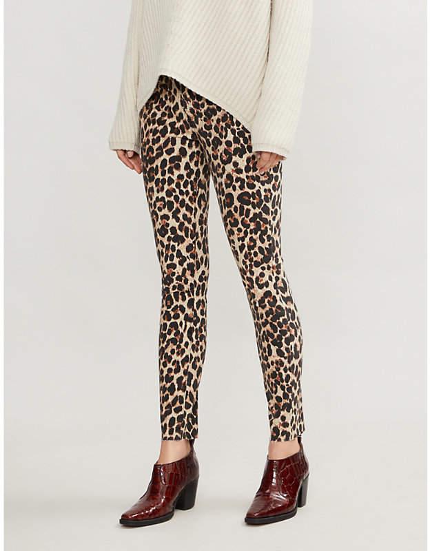Paige Verdugo super-skinny mid-rise leopard-print jeans