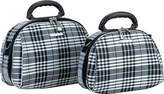 Rockland Luca Vergani 2 Piece Cosmetic Set - Black Cross Cosmetic Travel Bags