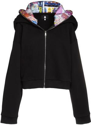Natasha Zinko Bunny Ears Cropped Sweatshirt Hoodie