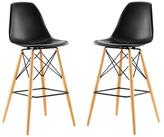 Modway Pyramid Dining Side Barstools (Set of 2)