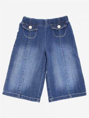 Liu Jo Wide Trousers In Used Denim