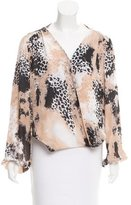 Chelsea Flower Abstract Print Silk Blouse