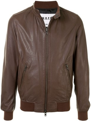 S.W.O.R.D 6.6.44 Zip-Front Leather Jacket
