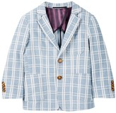 Isaac Mizrahi Plaid Linen Blazer (Toddler, Little Boys, & Big Boys)