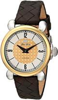 Glam Rock Women's Vintage 34mm Brown Leather Band Swiss Quartz Watch Gr28052