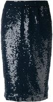 P.A.R.O.S.H. sequin pencil skirt - women - Polyamide/Spandex/Elastane/PVC - XS