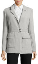 Ellen Tracy Notched Collar Long-Line Blazer