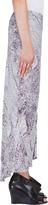 Wayne Snakeskin Print Buttoned Silk Maxi Skirt