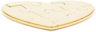AERIN Heart Puzzle Ornament - Gold