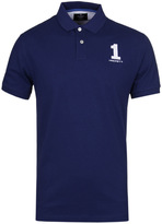 Hackett New Classic French Blue Short Sleeve Polo Shirt