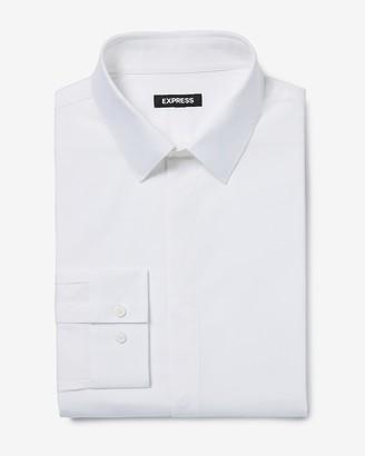 Express Slim Covered Placket Stretch Cotton 1Mx Dress Shirt