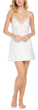 INC International Concepts Inc Button Detail Chemise Nightgown, Created for Macy's