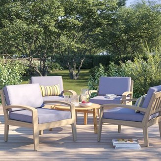 Sol 72 Outdoor Berkley Wood Frame Armchair with Cushions Sol 72 Outdoor