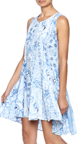 En Creme Blue Paisley Shift Dress