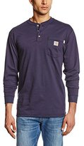 Carhartt Men's Flame Resistant Force Cotton Long Sleeve Henley