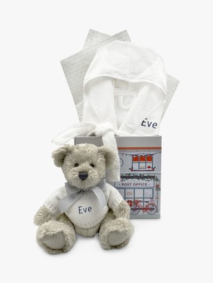 Babyblooms Personalised Christmas Bathrobe and Berkeley Bear Soft Toy, 0-12 Months