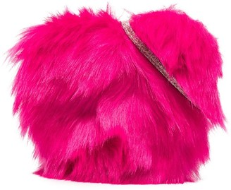 Billieblush Heart-Shape Faux Fur Bag