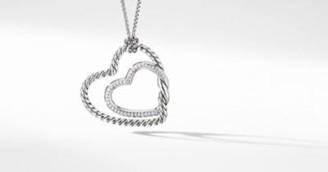 David Yurman Continuance Heart Necklace With Pave Diamonds