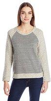 Monrow Women's Monster Loop Raglan Pullover Sweatshirt