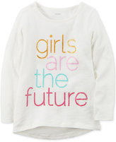 Carter's Girls Are The Future Graphic-Print Long-Sleeve Cotton T-Shirt, Toddler Girls (2T-4T)